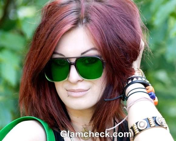 Rock The Look Emerald Green aviators