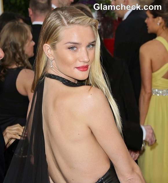 Rosie Huntington-Whiteley Hairstyle at 70th Anuual Golden Globe Awards