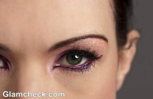 makeup how to shimmer eyes with colored eye-liner