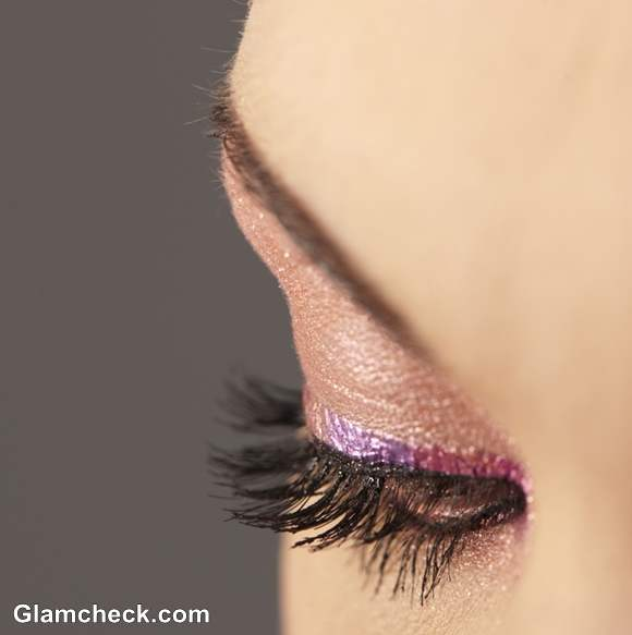 shimmer eyes colored eye-liner makeup how to