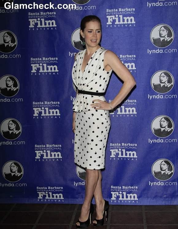 Amy Adams in Polka Dot dress at Cinema Vanguard Awards 2013