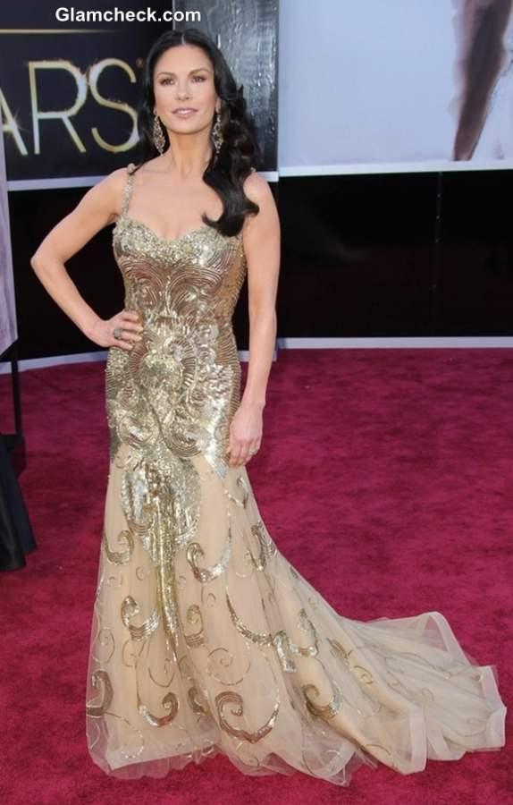 Catherine Zeta Jones Gown at Oscars 2013