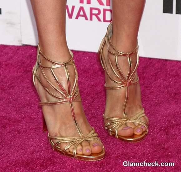 Celeb Footwear at 2013 Film Independent Spirit Awards Nina Dobrev