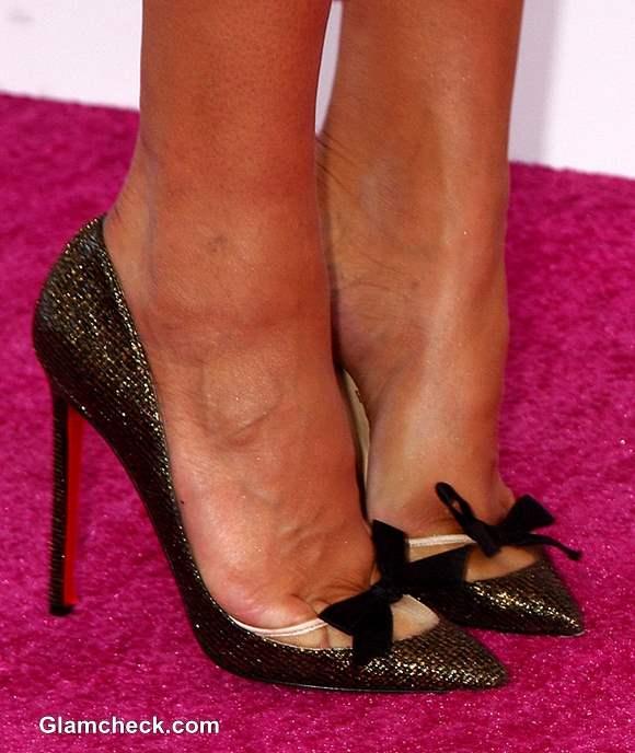 Celeb Footwear at 2013 Film Independent Spirit Awards Paula Patton