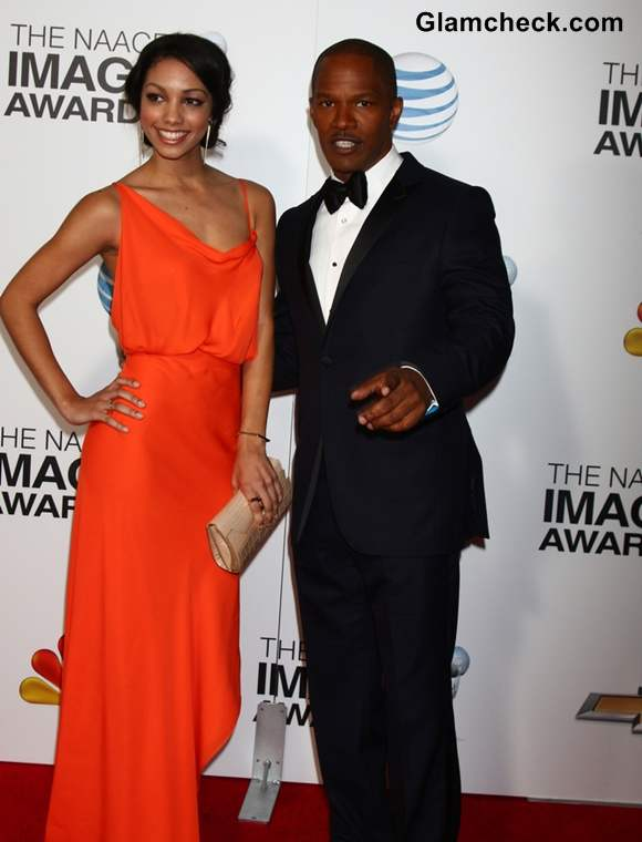 Corinne Foxx with Dad Jamie Foxx at NAACP Awards 2013