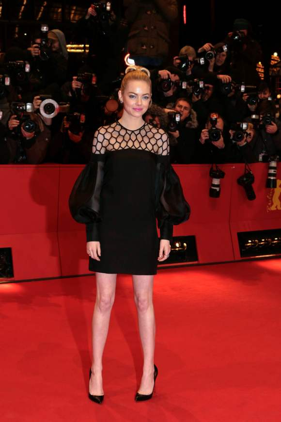 Emma stone black dress at 2013 Berlin Film Festival