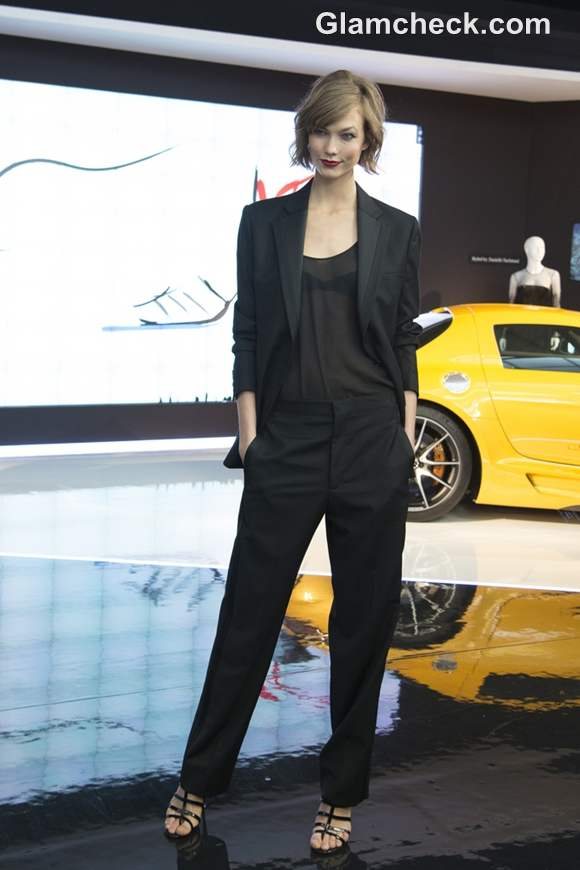 Karly Kloss Goes Androgynous at Mercedes Benz Fashion Week 2013