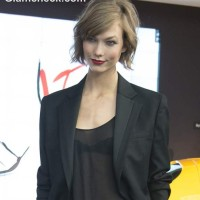 Karly Kloss at Mercedes Benz Fashion Week 2013