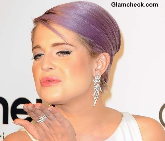 Kelly Osbourne diamond earrings at 2013 Elton Johns Oscar Viewing Party