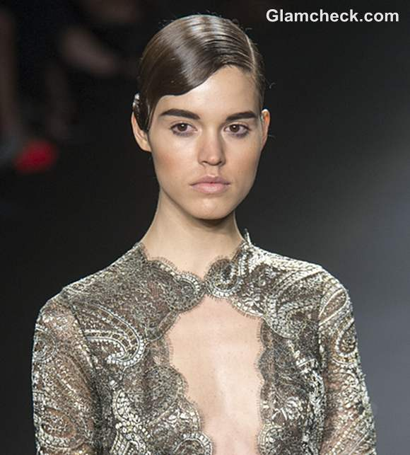 Naeem Khan Fall 2013 Sleek and Wavy hairstyle trend