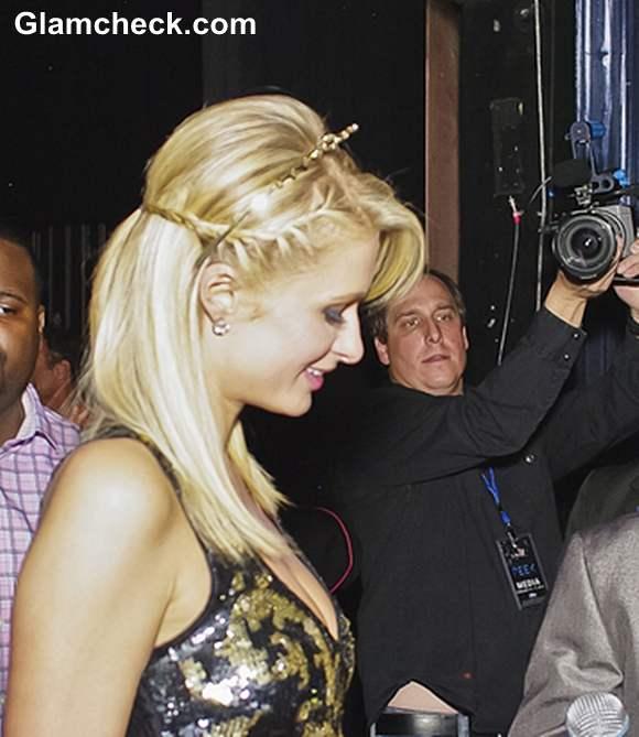 Paris Hilton Milmaid-Braids at BDay Bash
