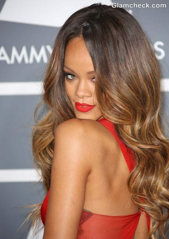 Rihanna Hairstyle at 2013 Annual Grammy Awards