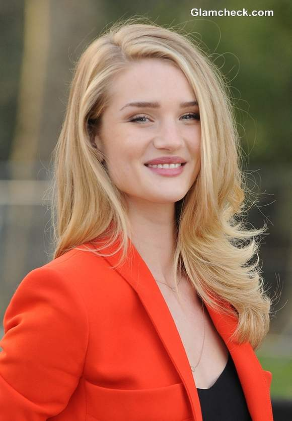 Rosie Huntington Whiteley Color Blocks Orange Amp Black