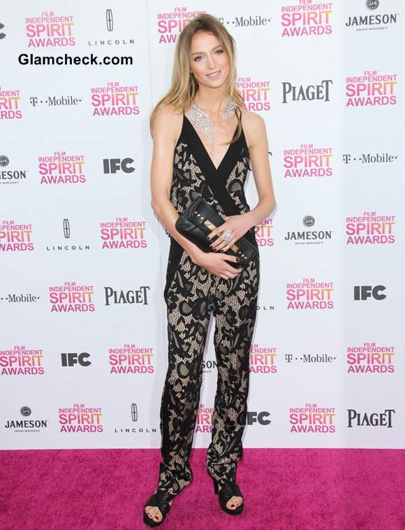 Stephanie Crayencour at 2013 Film Independent Spirit Awards