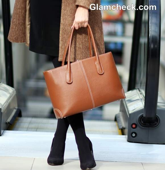 camel tan tote bag