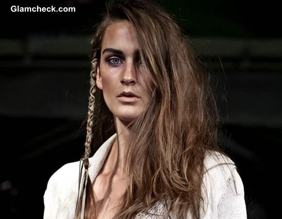 threaded braid hairstyle