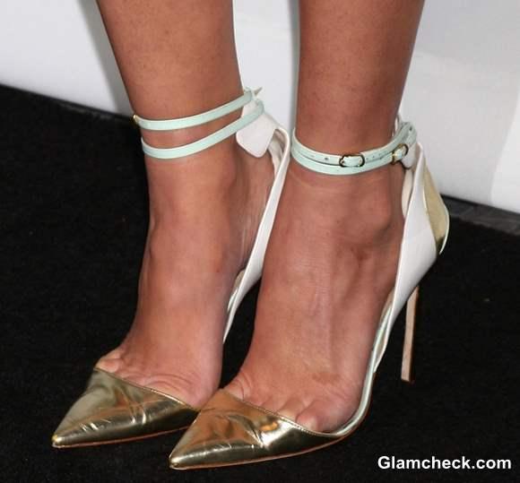 Ankle-strap heels-Olivia Munn