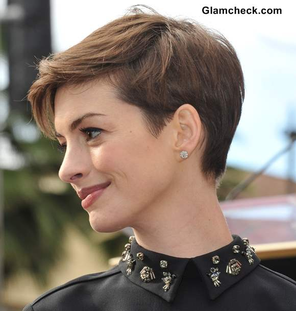Anne Hathaway Pixie Hairstyle short