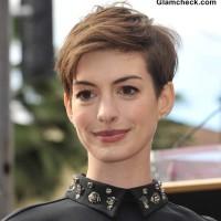 Anne Hathaway Pixie Hairstyle textured