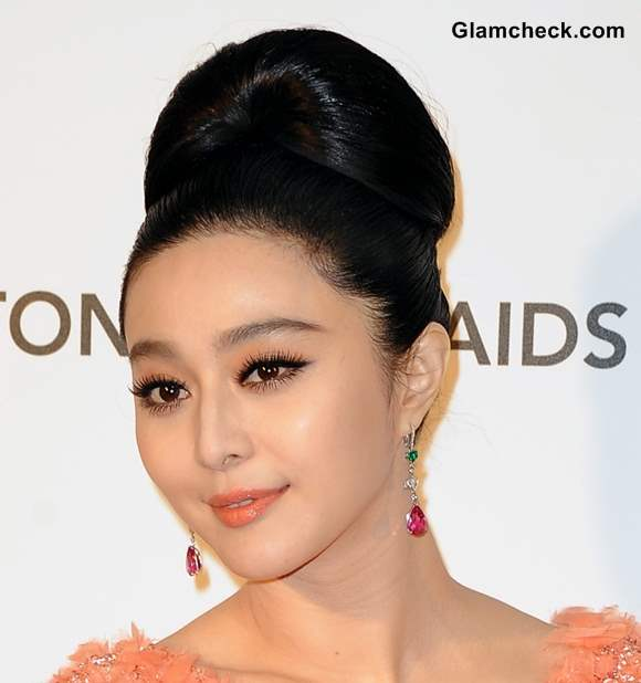 Fan Bingbing Elegant in Retro Beehive hair Do at Oscars 2013