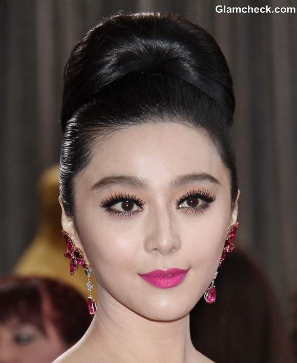 Fan Bingbing Elegant in Retro Do during Oscars 2013