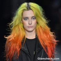 Get the Nicole Miller Yellow Orange Ombre hair fall-winter 2013