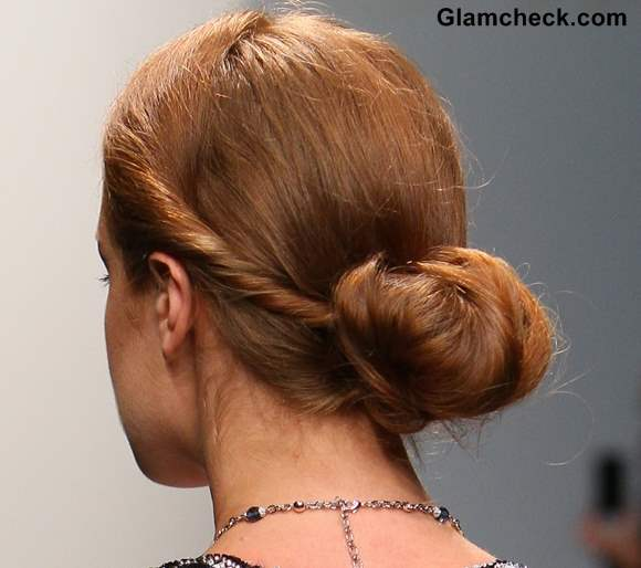 Hairstyle how to twisted low bun Dany Tabet Fall Winter 2013