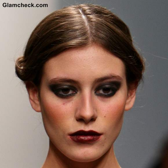Hairstyle twisted low bun Dany Tabet Fall Winter 2013