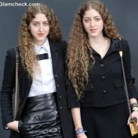 Haya Abu Khadra and Sama Abu Khadra at Paris Fashion Week FallWinter 2013
