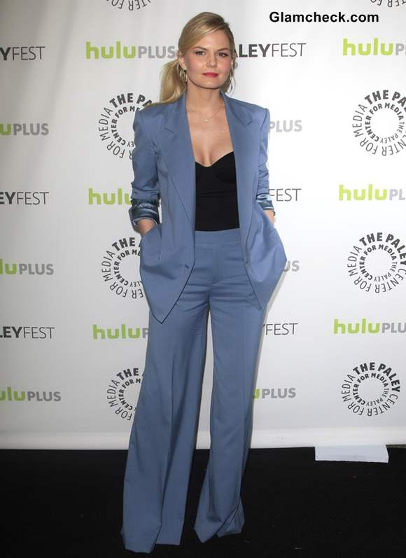 Jennifer Morrison in Blue Suit at PaleyFEST Once Upon a Time Screening