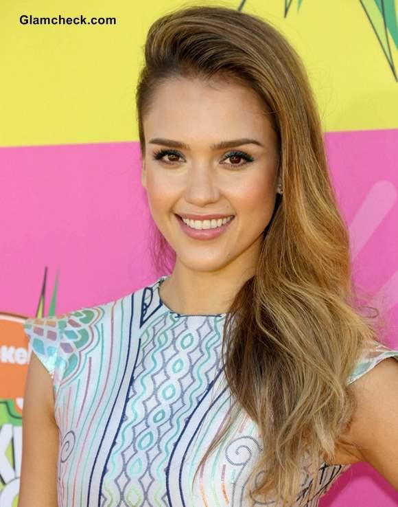 Jessica Alba Hairstyle at Nickelodeon Annual Kids Choice Awards 2013