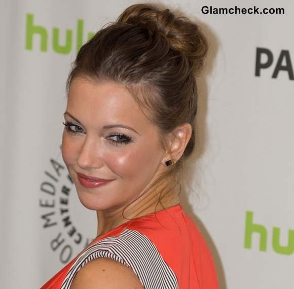 Kate Cassidy Top Knot hairstyle 2013