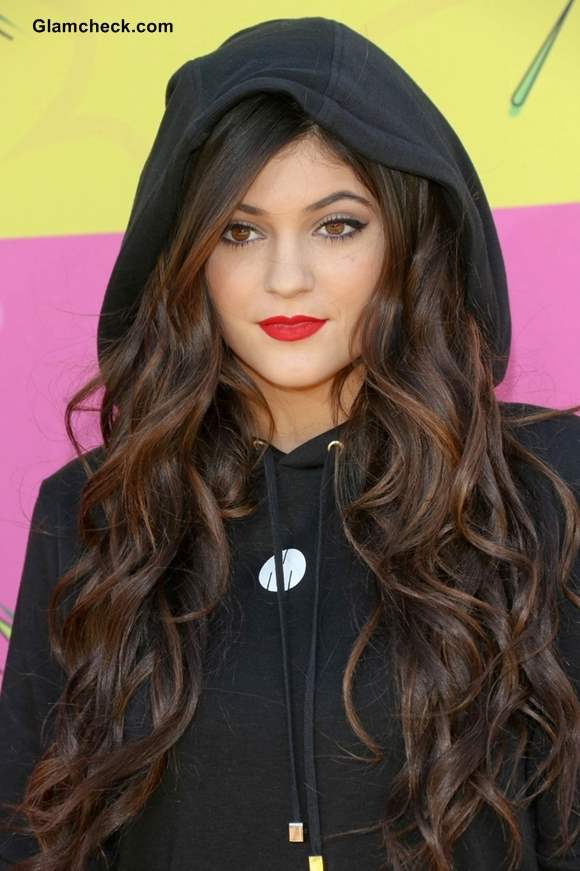 Kylie Jenner Hairstyle at Nickelodeon Annual Kids Choice Awards 2013