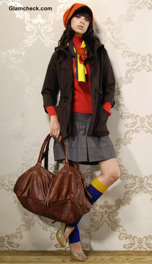 Layering skirts in winters fashion