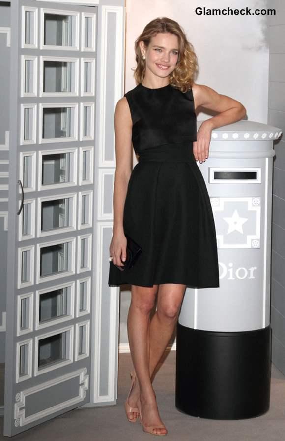 Natalia Vodianova in LBD at Dior at Harrods Photocall