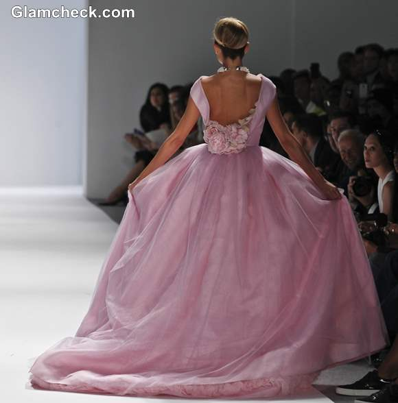 Pink ball gown Zang Toi s-s 2013