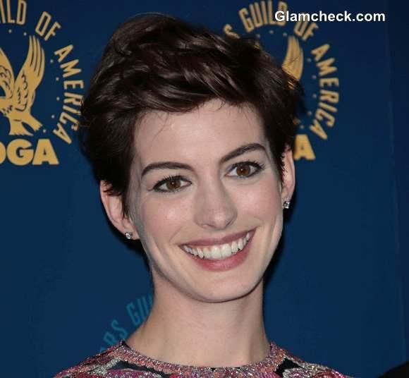 Short Pixie Hairstyle Annie Hathaway