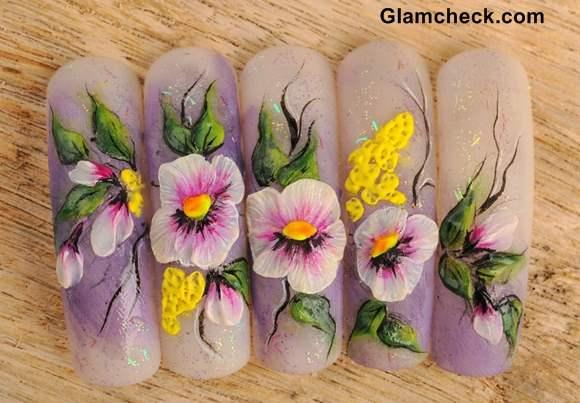 Spring Nail Art -Acrylic Nails