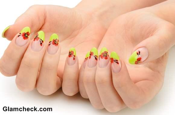 Spring nail art  bright beautiful