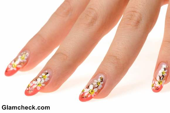 Spring nail art flowers