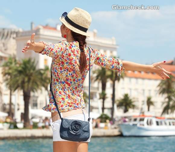 Wearing Floral Shirt with Crisp White Shorts