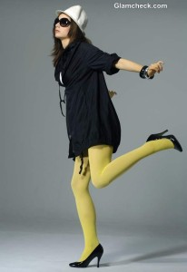 Winter Dressing Tips How to Wear Neon Tights with an Oversized Jacket