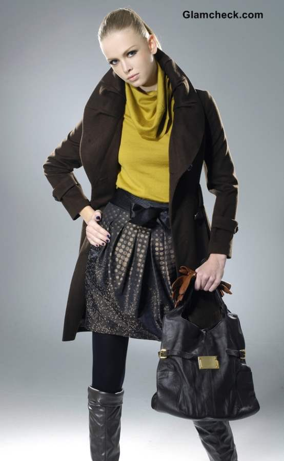 Winter fashion Layering skirts