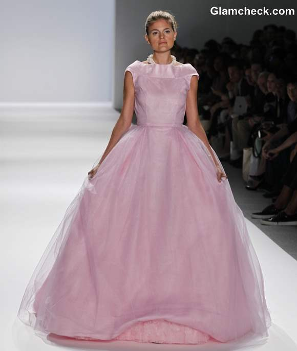 Zang Toi pink ball gown s-s 2013
