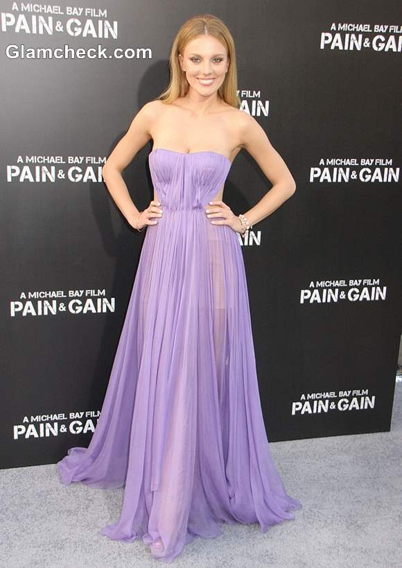 Bar Paly in Sheer Lilac Gown