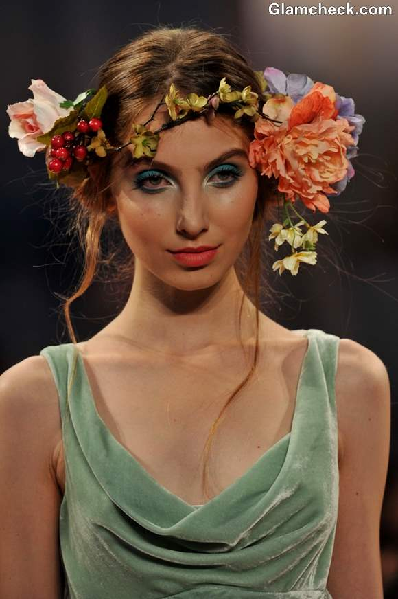 Bridal Floral Headgears trend fall 2013 Claire Pettibone