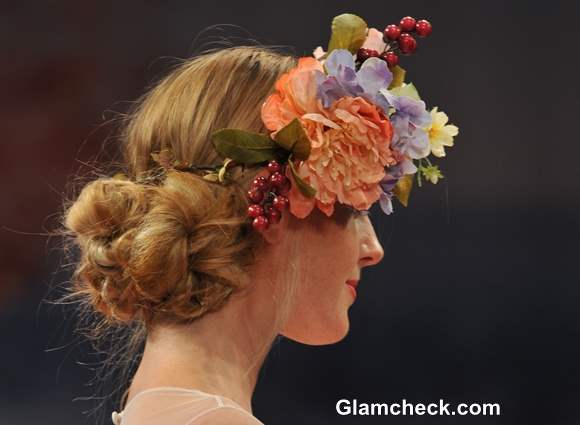 Bridal floral Hairstyle 2013