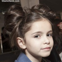 DIY Kids Hairdos Double Top Knots