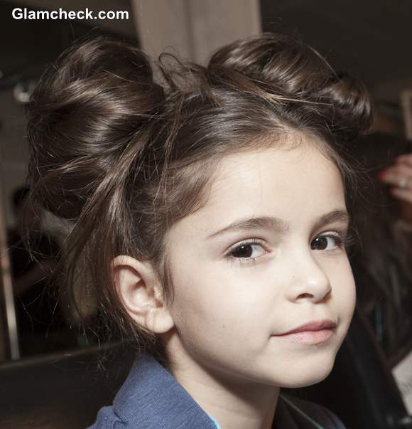 DIY Kids Hairdos Double Top Knots