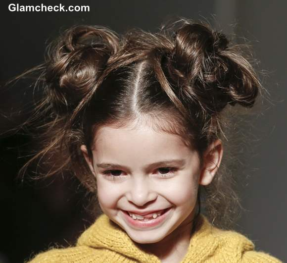 DIY little girls hairstyles Double Top Knots